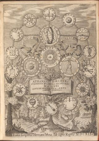 Kircher, Magnes frontispiece