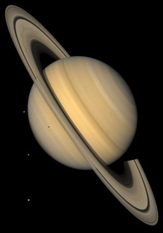 G07 Saturn with Tethys, Dione, Rhea